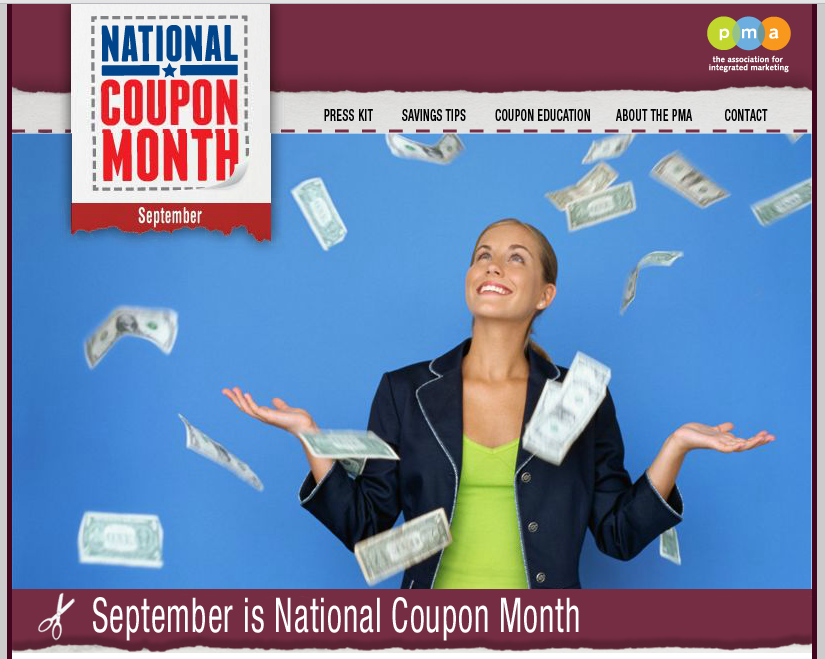 SEPTEMBER is NATIONAL COUPON MONTH!  CHEERS to YOU ALL!