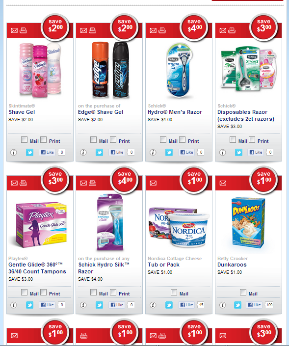 WOW!  More Printable AND Mailed COUPONS for Schick, Edge, Hydro and Skintimate Shaving on SAVE.CA