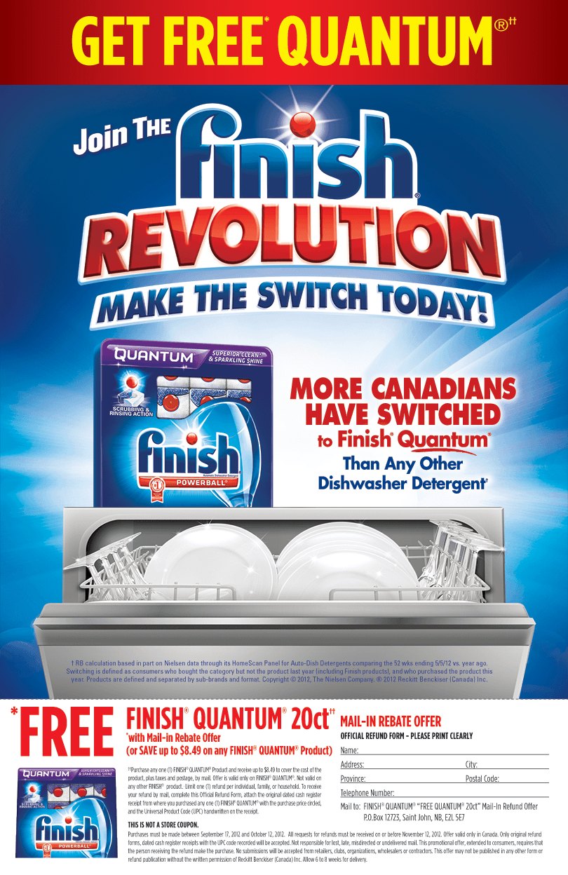 FREE Finish after mail in Rebate form