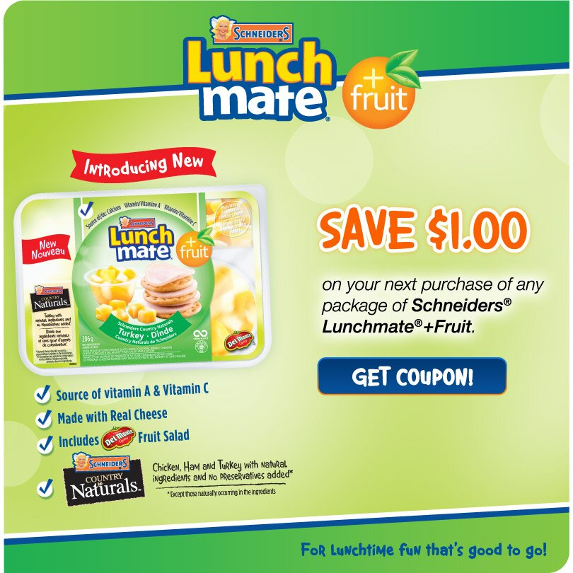 *FREE LUNCHMATE product and a $1 off Lunchmate COUPON AVAILABLE*