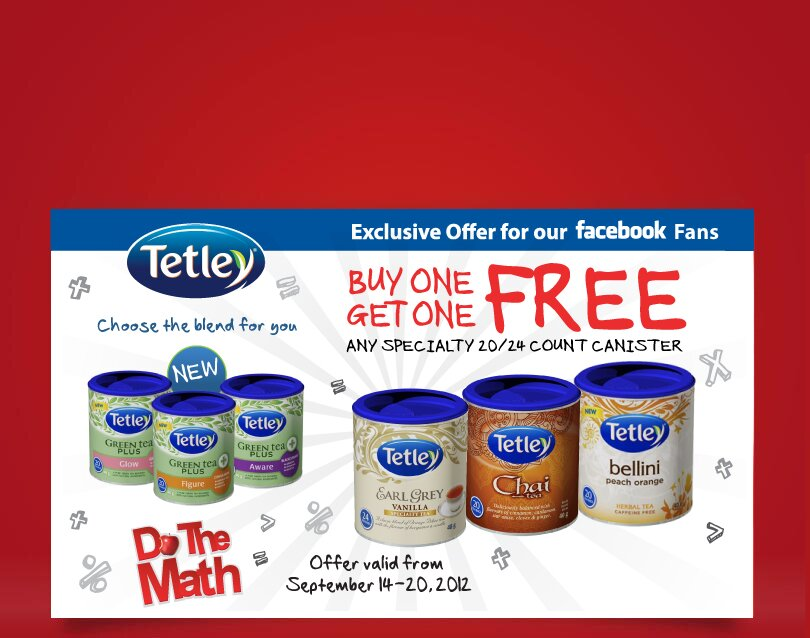 Buy one Get one Free TETLEY Coupon for METRO