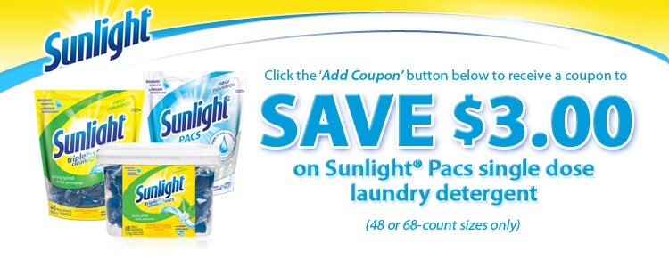 New sunlight coupon on save.ca