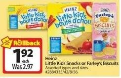 .92 For Heinz Little Kids Snacks at Walmart