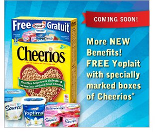 New Offer on Specially Marked Boxes of Cheerios