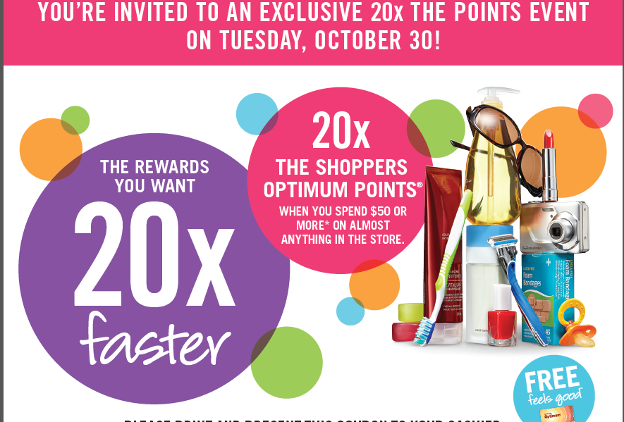 20x the POINTS EVENT – TUESDAY, OCTOBER 30, 2012 – SURPRISE!