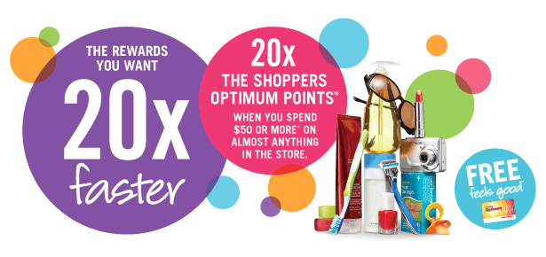 SHOPPERS DRUG MART 20x the POINTS! WEDNESDAY Oct. 17, 2012