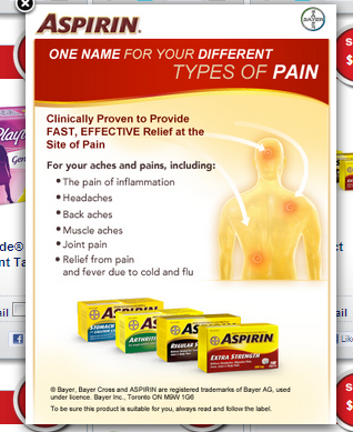 *NEW* $4 off Aspirin Coupon on Save.ca – Mailed Coupon