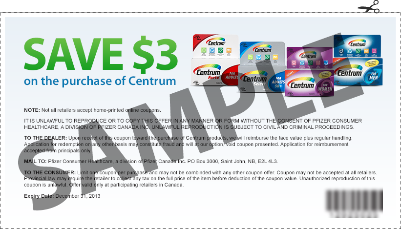NEW Centrum Coupon – Printable