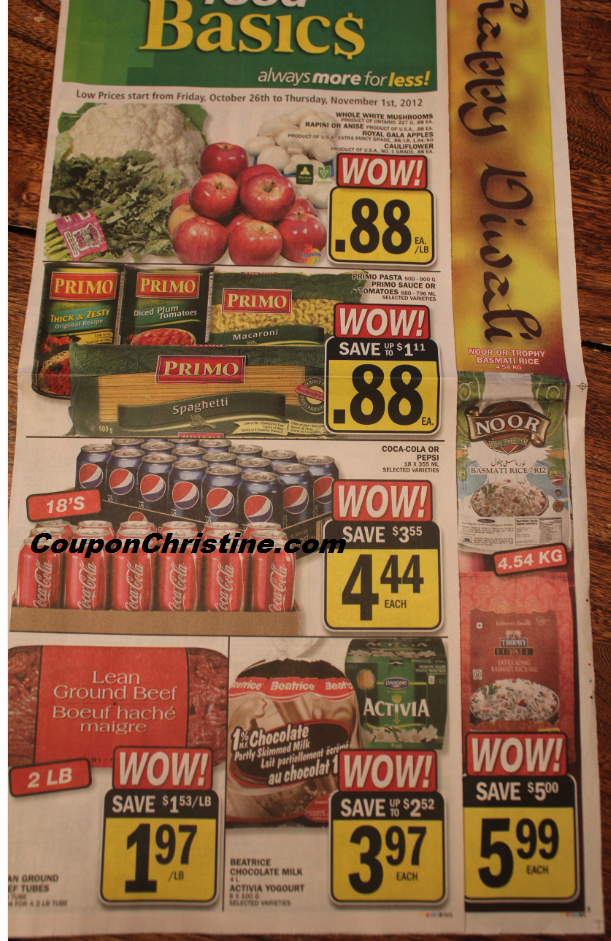 FOOD BASICS ONTARIO Flyer Sneak Peek (Oct. 26 – Nov. 1)
