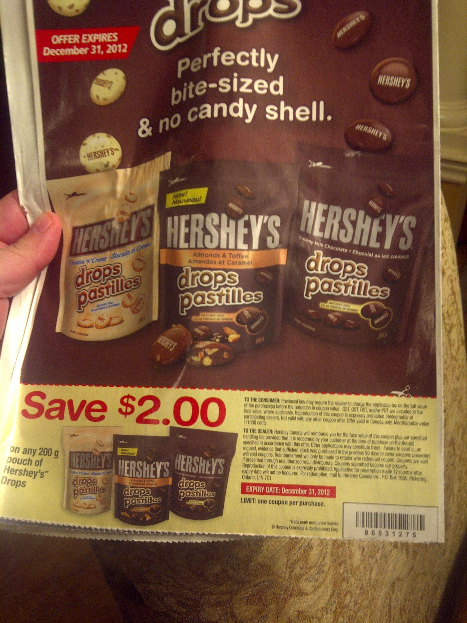 WOOT! Hershey's Drops are .98 cents (with coupon)