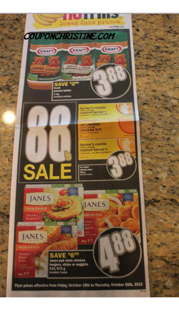 No Frills ONTARIO SNEAK PEEK of FLYER – Oct. 19 – 25, 2012