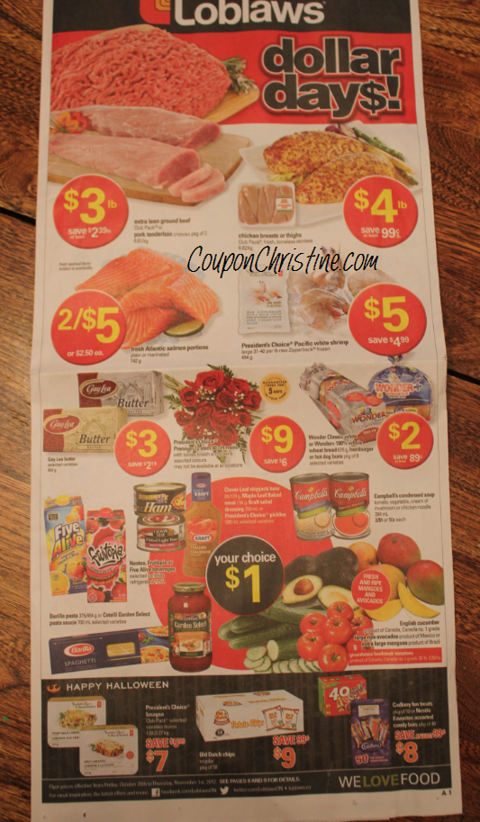 LOBLAWS ONTARIO FLYER Sneak Peek (Oct. 26 – Nov. 1)