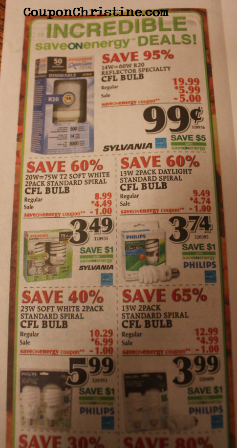 CHEAP LIGHTBULBS with PRINTABLE COUPON at TSC STORES