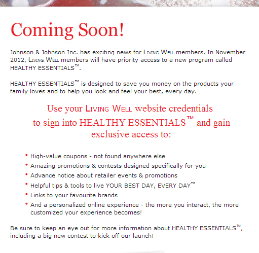 **IMPORTANT** Livingwell is shutting down as of Dec 3 2012 to make room for Healthy Essentials