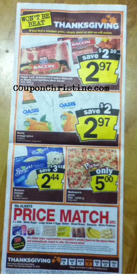 OASIS JUICE – 2.63L JUG = $1.47 at NFs starting Friday (with coupon) – check this out!