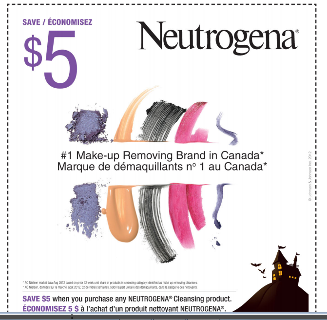 $5 off Coupon for Neutrogena Make-up Removal