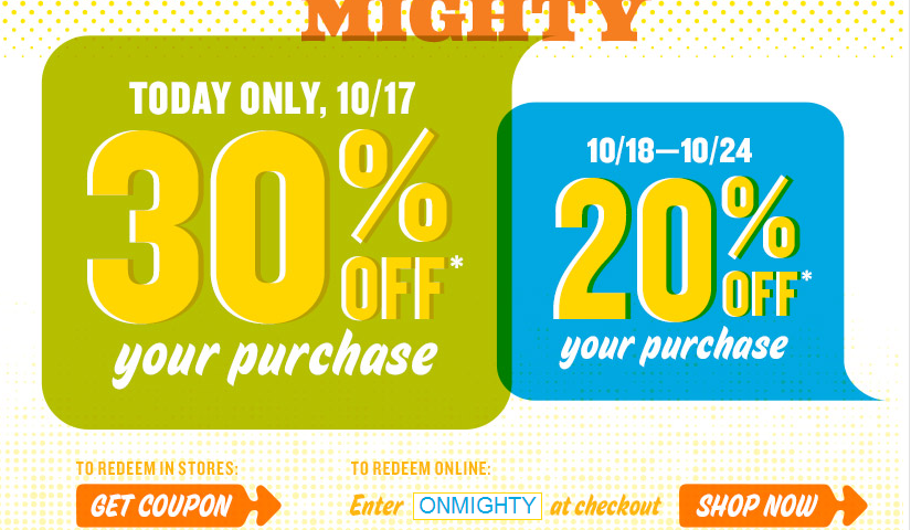 Old Navy  – 30% OFF TODAY ONLY! Online and Instore Deal!