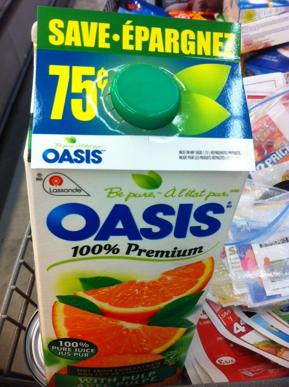 *NEW* .75 cents off Oasis Carton Juice Spotted *