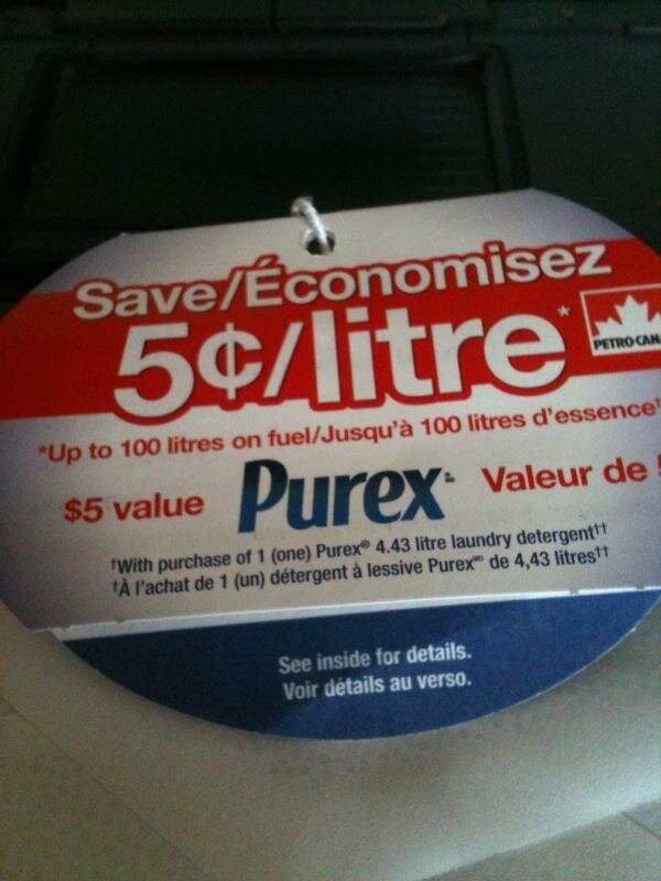 PUREX + $5 savings on GAS at Petro
