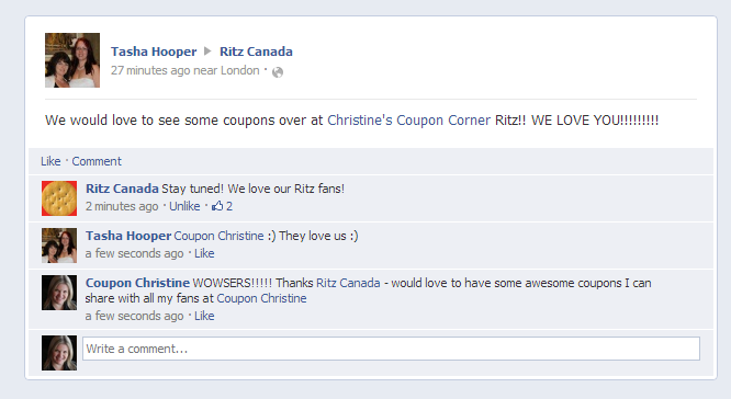 "Ritz Canada says ""stay tuned"" … I love when they say that!"