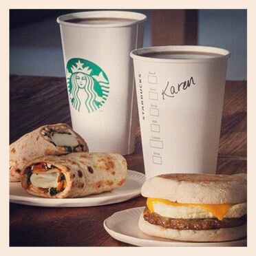 STARBUCKS $2 BREAKFAST SANDWICH or WRAP DEAL