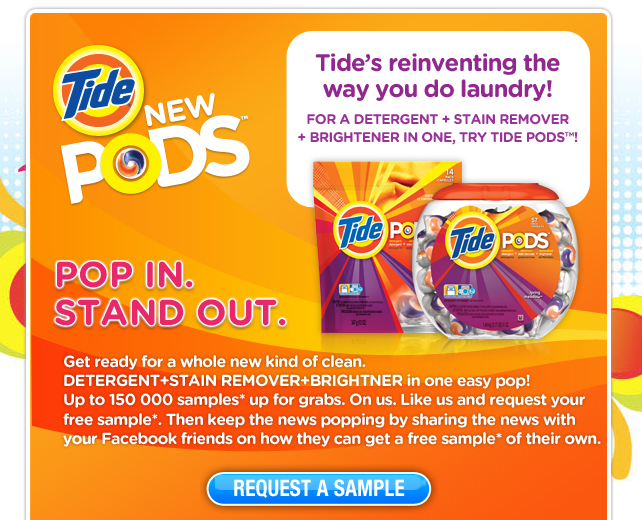 *NEW FREEBIE* How would you like to try a Tide POD?