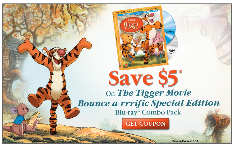 $5 off The Tigger Movie – with your Disney Movie Rewards Account