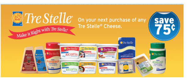 *NEW* .75 cents off TreStelle Cheese Products
