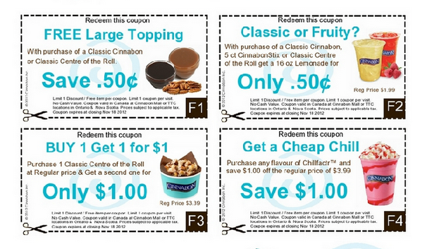 mmm Cinnabon Coupons – PRINTABLE