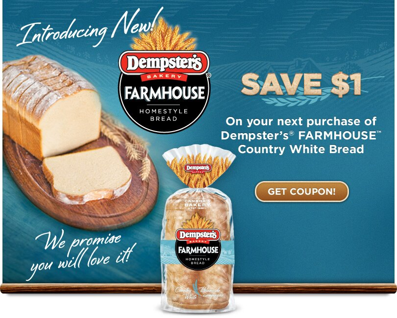 $1 off DEMPSTERS BREAD COUPON (Ontario Only)
