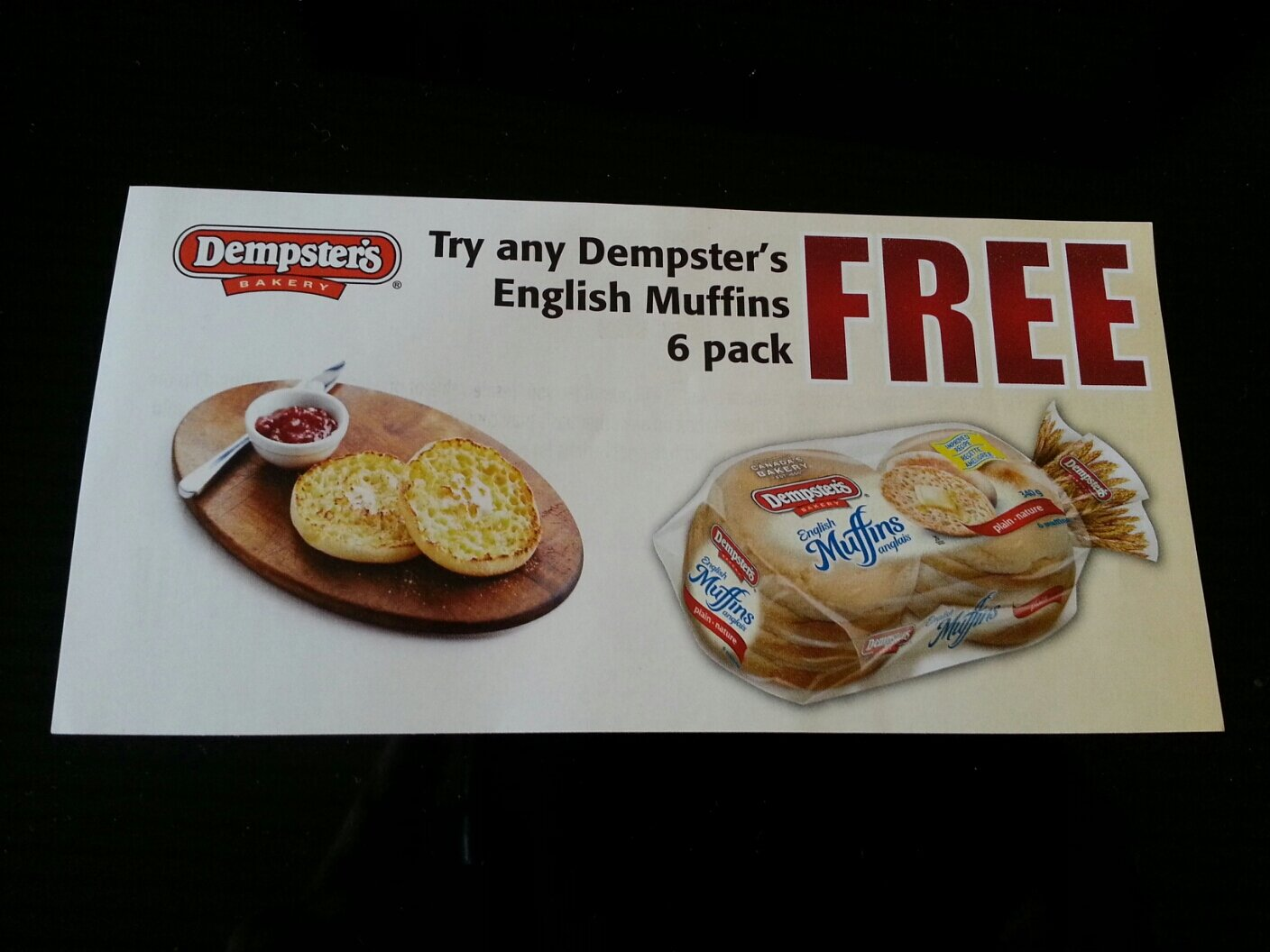 Have you seen this coupon? FREE DEMPSTERS ENGLISH MUFFINS