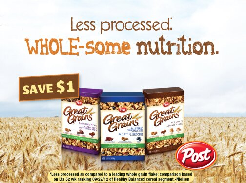 **NEW** $1 off Post Great Grains Cereal