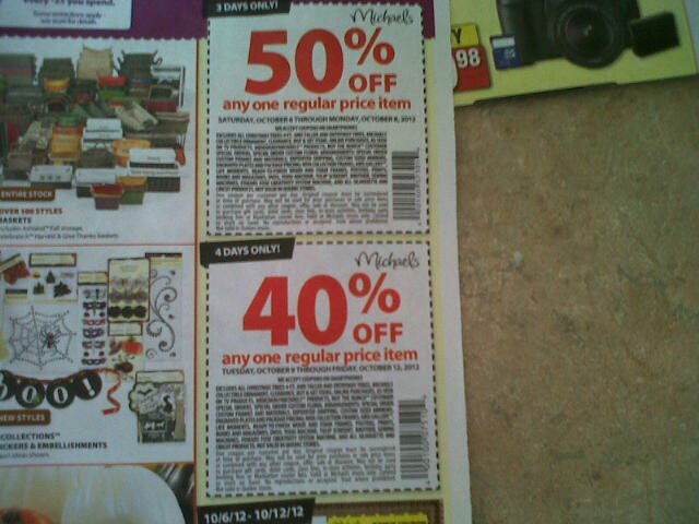 2 new coupons in Michaels Flyer
