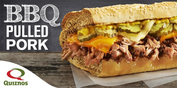 50% off a sub at Quiznos with reg pop purchase