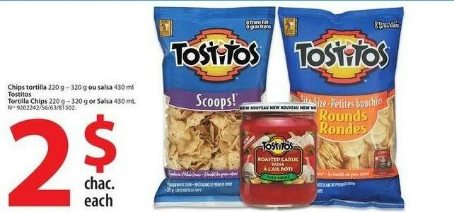 FREE Salsa at Walmart after Tostitos Purchase.