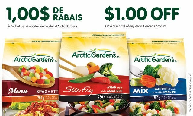 $1 off Arctic Gardens Coupon Available to Order on GoCoupons.ca