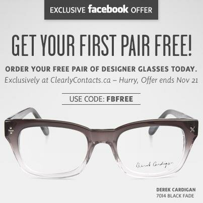 FREE GLASSES at CLEARLY CONTACTS