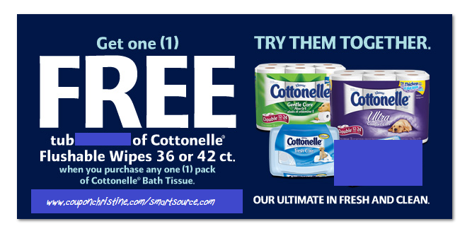 *NEW* Coupon on Smartsource for FREE Cottonelle Bathroom Wipes