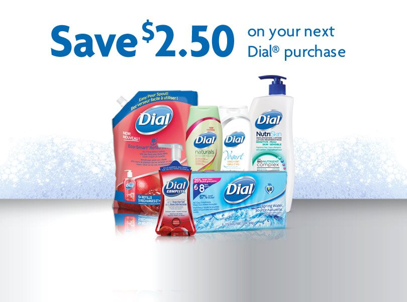 Save $2.50 off Dial Products – Printable Coupon