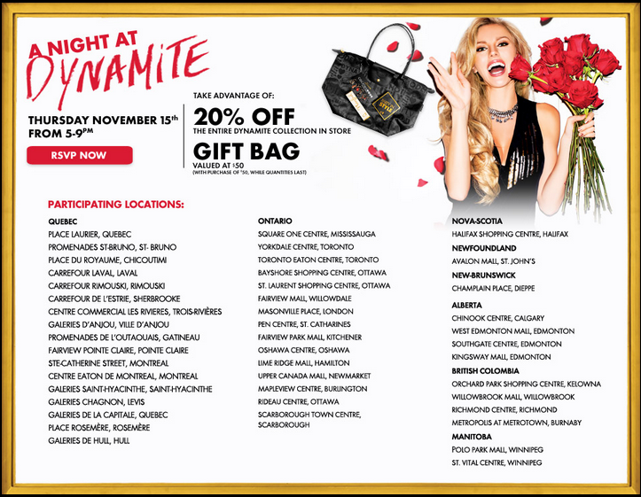 REMINDER!!!! Dynamite Clothing Store 1 NIGHT SALE! 20% off PLUS free $50 gift bag!