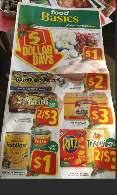 Food Basics – SNEAK PEEK of FLYER for Nov. 30 – Dec. 6 – DOLLAR DAYS!