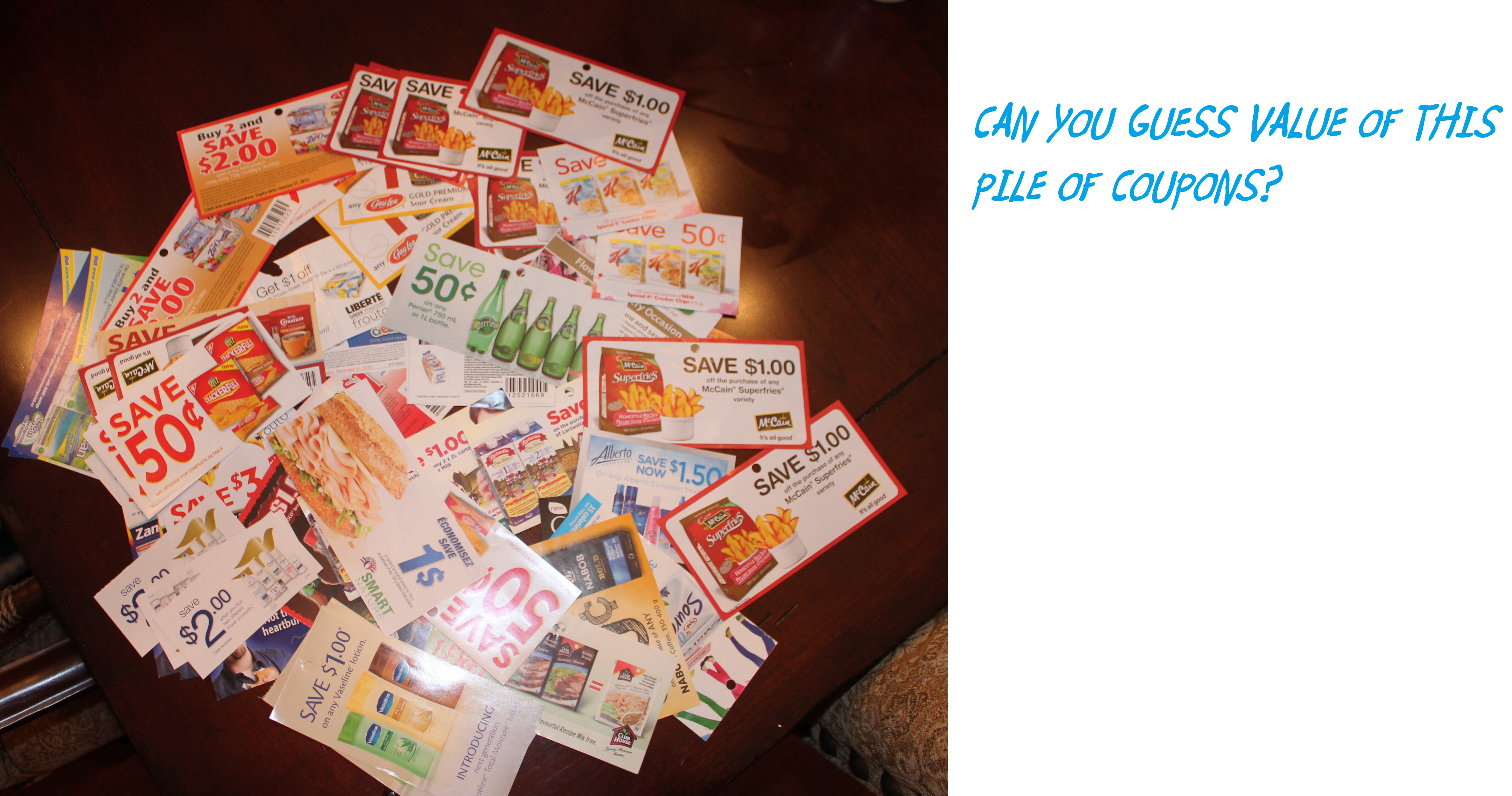 *CONTEST* WINNER ANNOUNCED – Can you GUESS the VALUE of these Coupons in this Pile?
