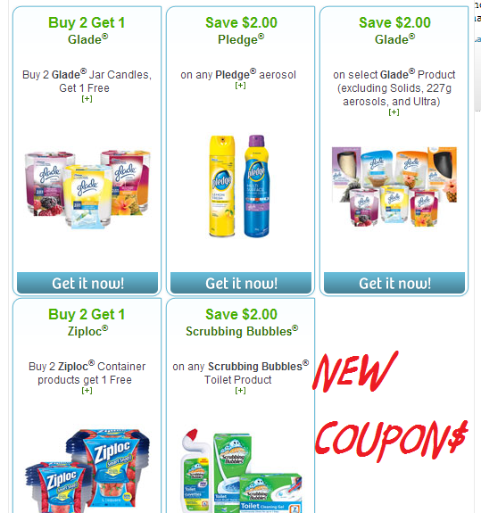 *NEW* Coupons on Right At Home – Websaver portal for cleaning/household products