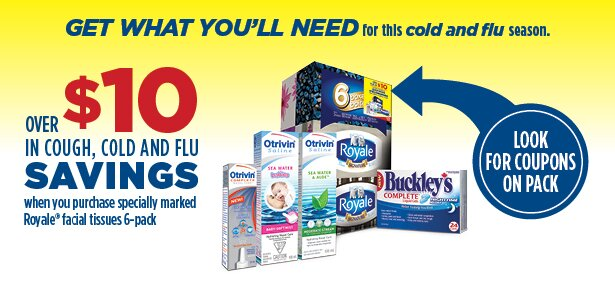 *NEW* $10 coupon pack for cough, cold and flu products on boxes of Royale Products