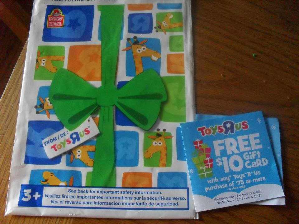 Wendy's Kids Meals – BONUS surprise bag + $10 savings card for Toys R Us