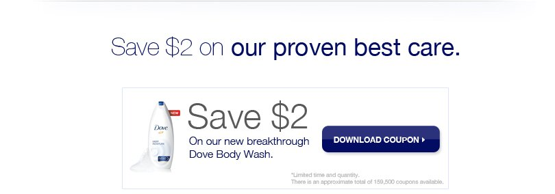 DOVE Body Wash & Soap Coupons – PRINTABLE