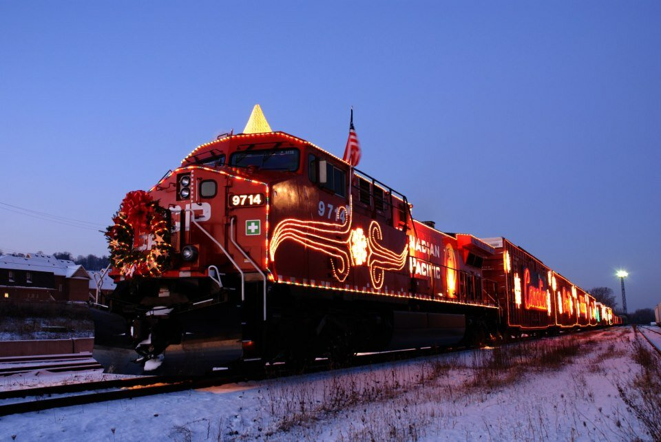 Canadian Pacific = Holiday Train to be in London on Sunday – bring a donation!