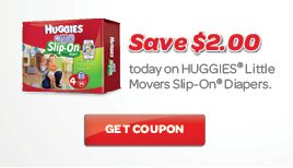 2 **NEW** Printable Huggies Coupons