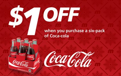 $1 off PRINTABLE COUPON for a 6 pack of COKE at Metro