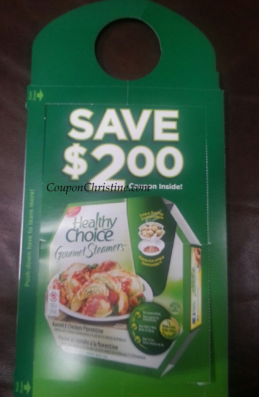 *NEW* $2 Coupon for Healthy Choice Steamers on Doorknobs in London Ontario